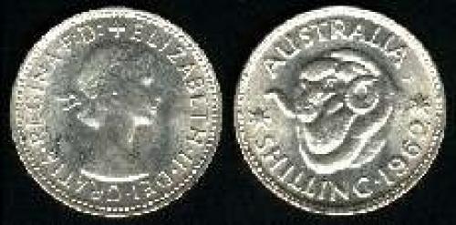 1 shilling; Year: 1955-1963; (km 59)