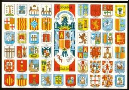 Heraldic postcards Spain