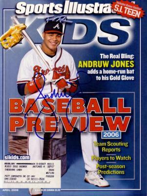 Andruw Jones autographed Atlanta Braves 2006 Sports Illustrated for Kids magazine