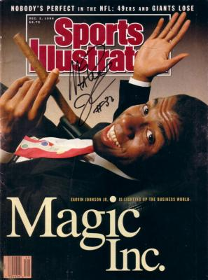 Magic Johnson autographed 1990 Sports Illustrated