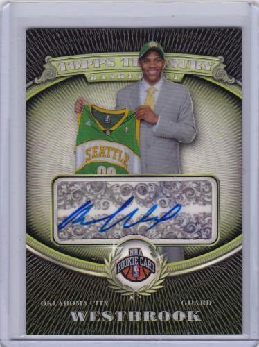 Topps Treasury rookie autograph refractor rookie Russell Westbrook