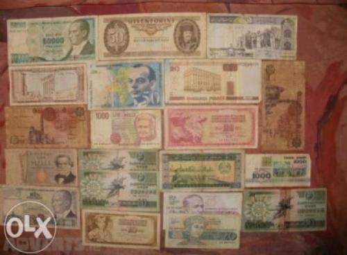 20 pcs. mix banknotes