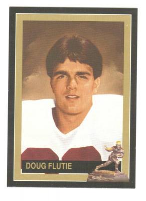 Doug Flutie Boston College Heisman Trophy winner card
