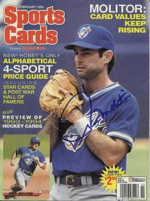 Paul Molitor autographed Toronto Blue Jays 1994 Sports Cards magazine cover