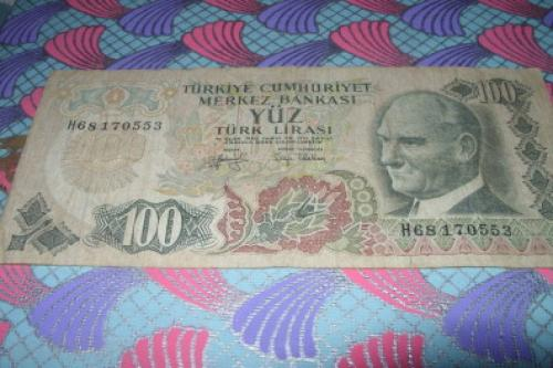 Turkey 100 Turkish liras-1970