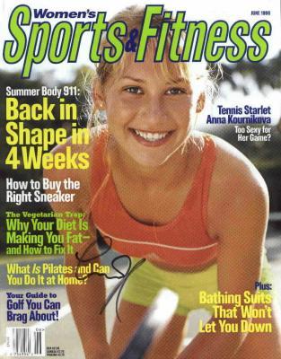 Anna Kournikova autographed Women's Sports & Fitness magazine