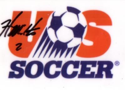 Heather Mitts autographed US Soccer logo card