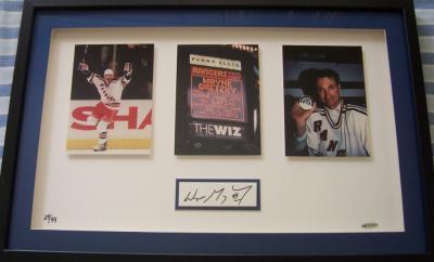 Wayne Gretzky autographed New York Rangers Goal 1072 framed photos UDA #29/99