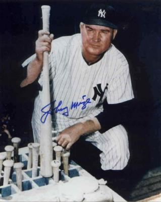 Johnny Mize autographed New York Yankees 8x10 photo