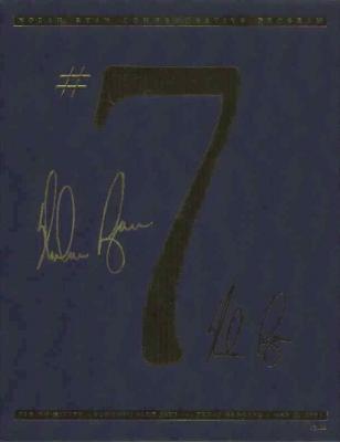 Nolan Ryan autographed Texas Rangers 7th No-Hitter commemorative program