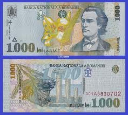 Banknotes;  Romania 1998 1000 Lei Banknotes.