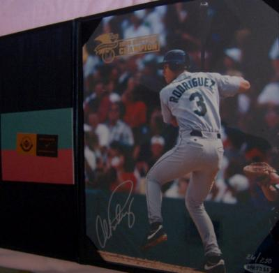 Alex Rodriguez autographed Seattle Mariners 1996 AL Batting Champion 8x10 photo #26/250 (UDA)