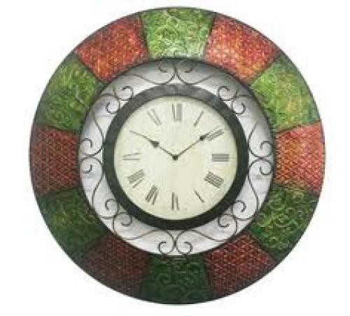 Crafts;  Metal Wall Clock--Handmade Crafts