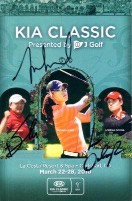 Lorena Ochoa Jiyai Shin Michelle Wie autographed 2010 LPGA Kia Classic program