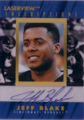 Jeff Blake certified autograph Cincinnati Bengals 1996 Pinnacle Inscriptions card