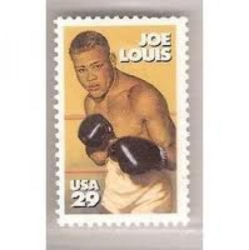 Stamps; Joe louis american sports boxing glove us stamp 29c