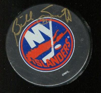 Billy Smith autographed New York Islanders puck