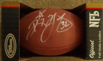 Ricky Watters autographed NFL game football
