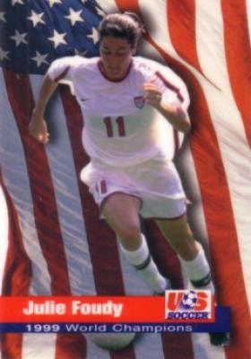 Julie Foudy 1999 U.S. Women's National Team Roox soccer card (Champion)