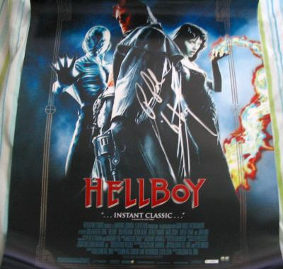 Ron Perlman autographed Hellboy movie poster