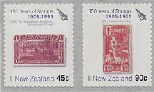 150 years stamps 2v s-a (1905-1955 period)