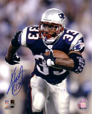 Kevin Faulk autographed New England Patriots 8x10 photo