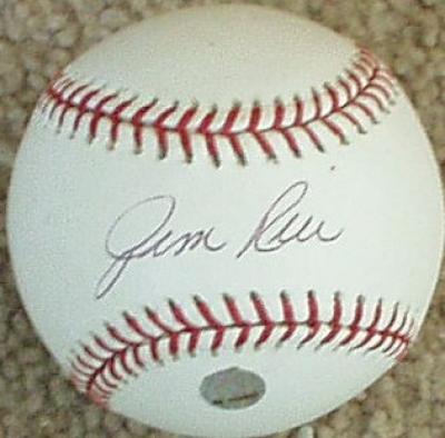 Jim Rice autographed MLB baseball