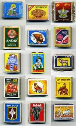 Match boxes; Indian