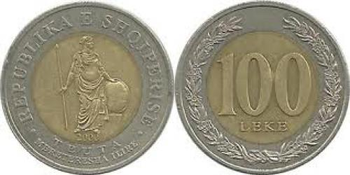 Coins; Albania 100Leke ; Year:2000