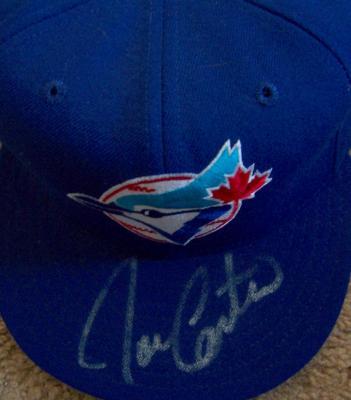 Joe Carter autographed Toronto Blue Jays game model throwback cap
