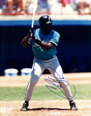 Charles Johnson autographed Florida Marlins 8x10 photo