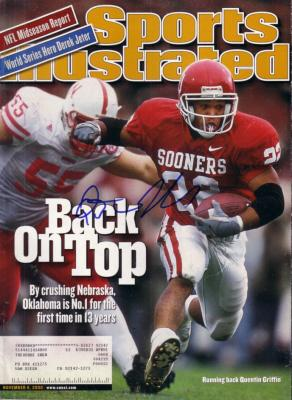 Quentin Griffin autographed Oklahoma Sooners 2000 Sports Illustrated