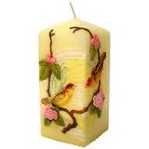 Birds Decorative Block Candle