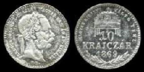 10 krajczar 1868-1869 (km 443)