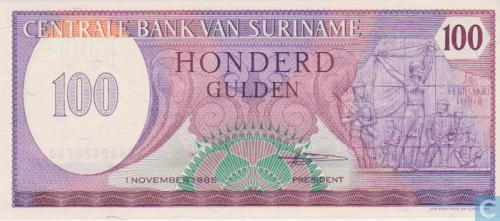 Suriname guilder 100 1985