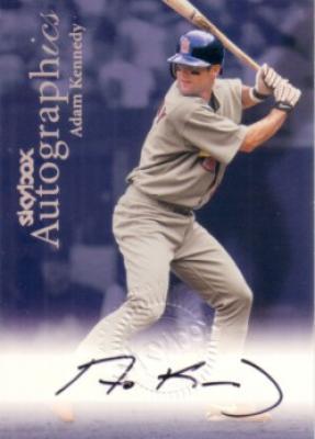 Adam Kennedy certified autograph 1999 SkyBox Autographics card