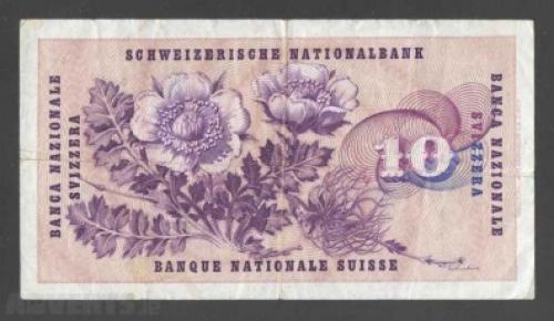 """Switzerland 10 Francs-1973"
