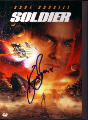 Kurt Russell autographed Soldier DVD box