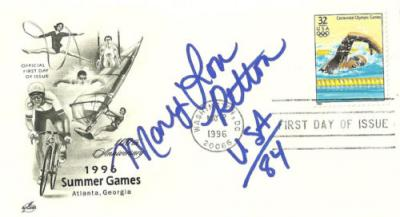 Mary Lou Retton autographed 1996 Olympics First Day of Issue cachet