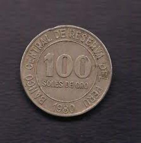 Coins; Peru 100 Soles De Oro Coin 1980 KM# 283