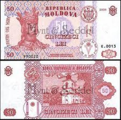 Banknotes; banknotes: Moldova..50 Lei;
