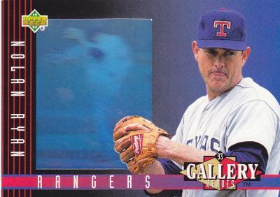 Nolan Ryan 1993 Upper Deck Gallery of Heroes hologram card #30