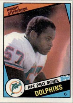 Dwight Stephenson Dolphins 1984 Topps Rookie Card #129 MINT