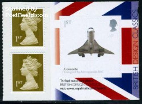 Classic design s-a booklet pane, Concorde