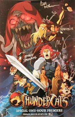 ThunderCats autographed 2011 Comic-Con poster (Emmanuelle Chriqui Larry Kenney)