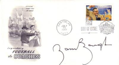 Sammy Baugh autographed 1997 Vince Lombardi First Day Cover cachet