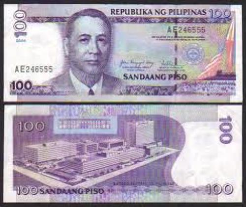  Philippine 100 PISO New Design Series w/ type 5 BSP seal (1997  2001)