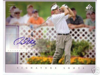Robert Allenby certified autograph 2004 SP Signature Golf 8x10 photo card