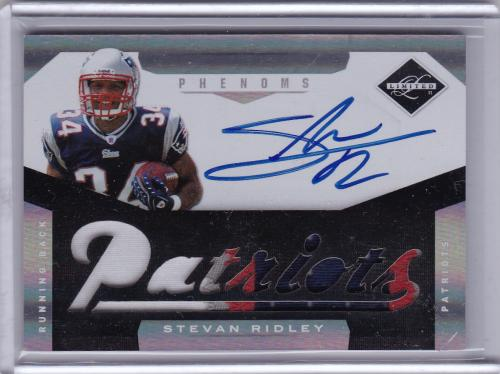 2011 PANINI LIMITED PATCH AUTO ROOKIE STEVAN RIDLEY NEW ENGLAND PATRIOTS
