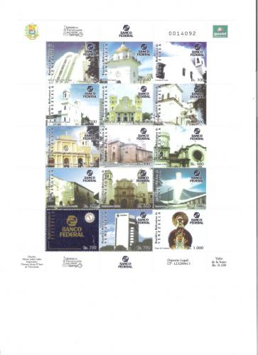 STAMPS 2005 CHURCHES OF VENEZUELA